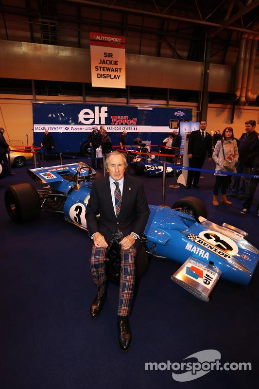 Jackie Stewart, em seu recurso no Autosport International