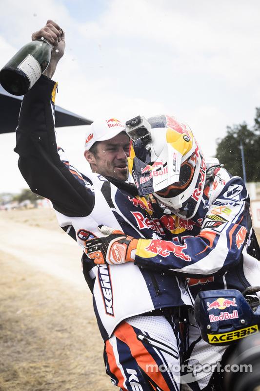 Vencedor Cyril Despres e segundo lugar Ruben Faria