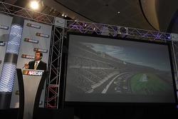 Daytona International Speedway President Joie Chitwood III present the new Daytona International Speedway