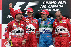 Podium: race winner Michael Schumacher, second place Rubens Barrichello, third place Giancarlo Fisichella