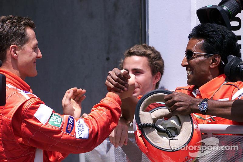 Ganador de la pole position Michael Schumacher