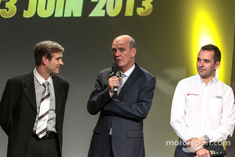 Benoit Tréluyer, Pascal Vasselon, Toyota Racing, and Wolfgang Ullrich, Audi Motorsport