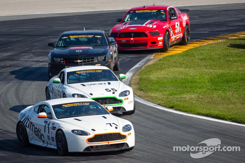 #71 Multimatic Motorsports Aston Martin Vantage: Tonis Kasemets, Michael Marsal, #55 Multimatic Motorsports Aston Martin Vantage: Jade Buford, Scott Maxwell