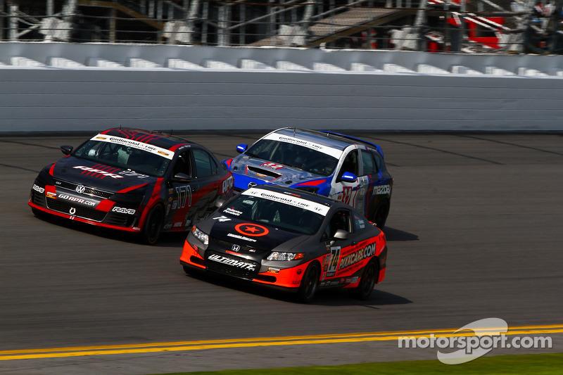 #74 Compass360 Racing Honda Civic SI: Aaron Povoledo, David Thilenius
