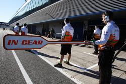 Sahara Force India F1 Team pit stop lollipop