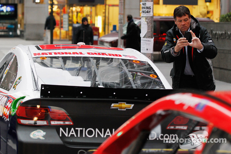 Michael Waltrip takes a photo in NYC