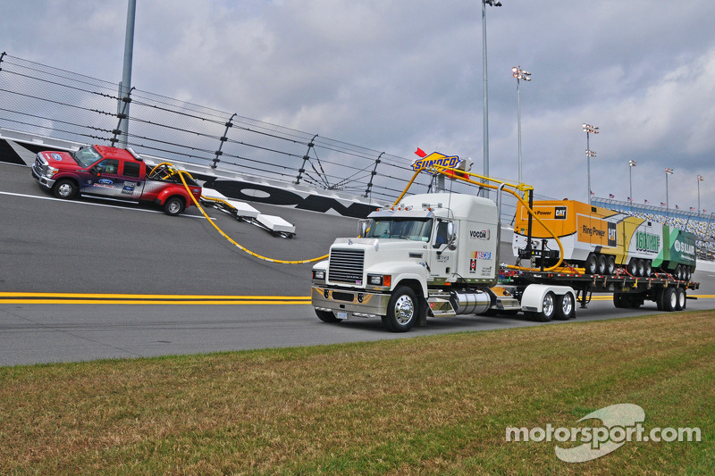 NASCAR demonstrates the Air Titan technology that will be used to remove rain from tracks