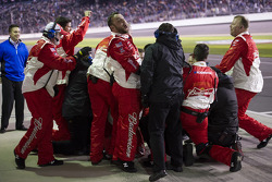 The Richard Childress Racing crew celebrates Kevin Harvick's win