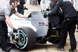 Mercedes AMG F1 W04 rear wing detail