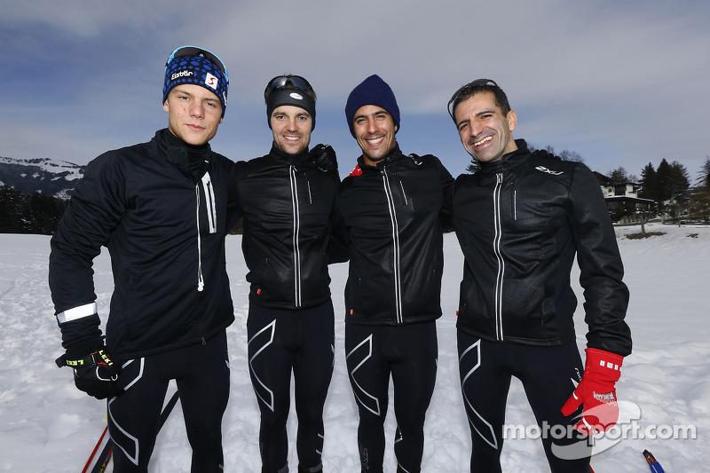 Марк Жене, Лукас ди Грасси, Джейми Грин и Адриен Тамбэ. Зимний лагерь Audi, особое событие.