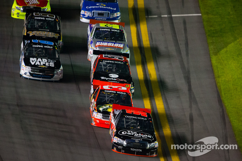 Johnny Sauter leads the field