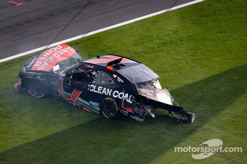 Regan Smith with heavy damage