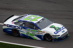 Casey Mears, Germain Racing Ford on pit road with damage