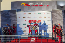 Podium: race winners Jon Fogarty, Alex Gurney