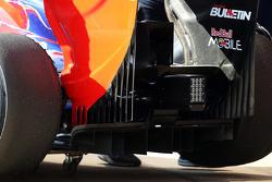 Difusor y alerón trasero del Scuderia Toro Rosso STR8