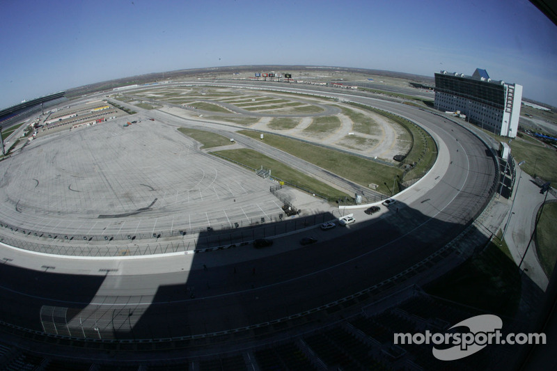 Overview of the back straight at Texas Motor Speedway