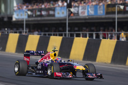 Mark Webber in de Red Bull F1