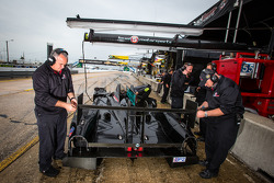 Level 5 Motorsports team members at work