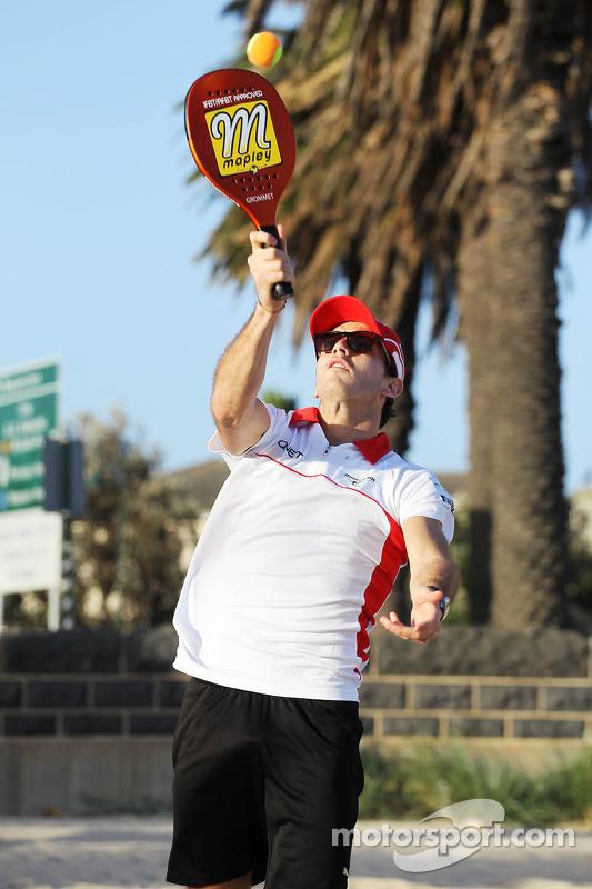Jules Bianchi, Marussia F1 Team jogam frescobol