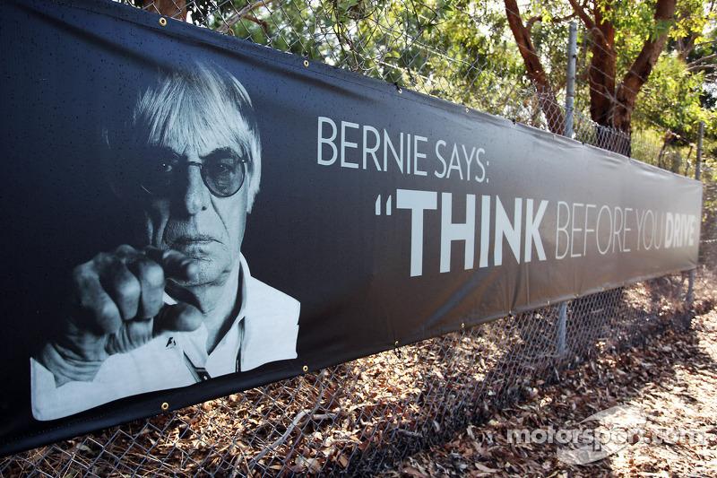 Campagne tegen rijden met drank op met Bernie Ecclestone