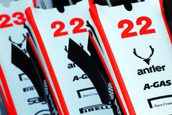 Marussia F1 Team MR02 nosecones