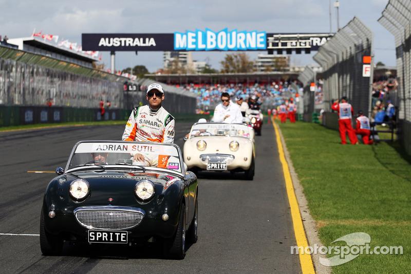 Адриан Сутиль. ГП Австралии, Воскресенье, перед гонкой.