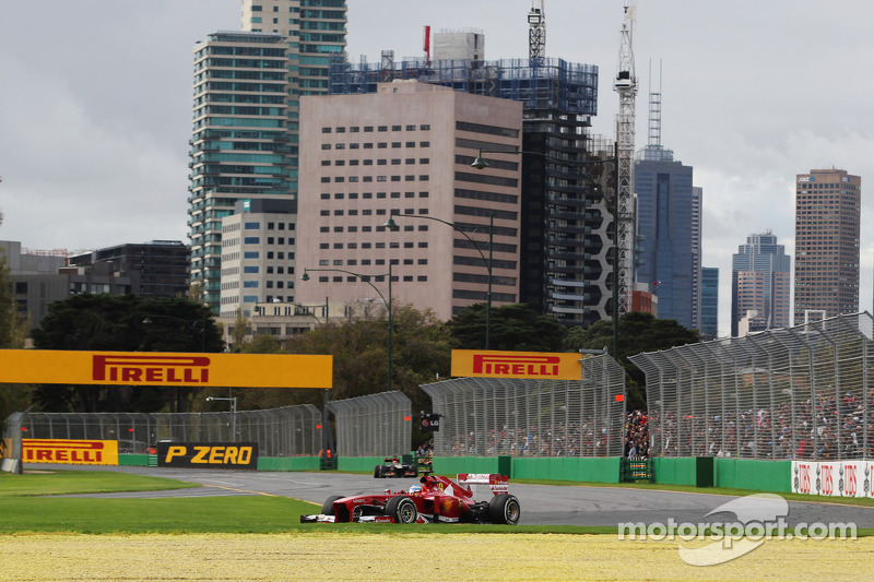 Фернандо Алонсо. ГП Австралии, Воскресная гонка.