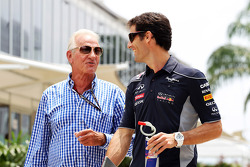 John Button, with Mark Webber, Red Bull Racing