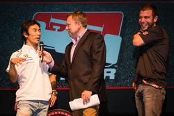 Drivers presentation: Takuma Sato, A.J. Foyt Enterprises Honda and EJ Viso, Team Venezuela / Andretti Autosport / HVM Chevrolet