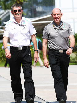 Nick Fry, Mercedes AMG F1 Chief Executive Officer with Jock Clear, Mercedes AMG F1