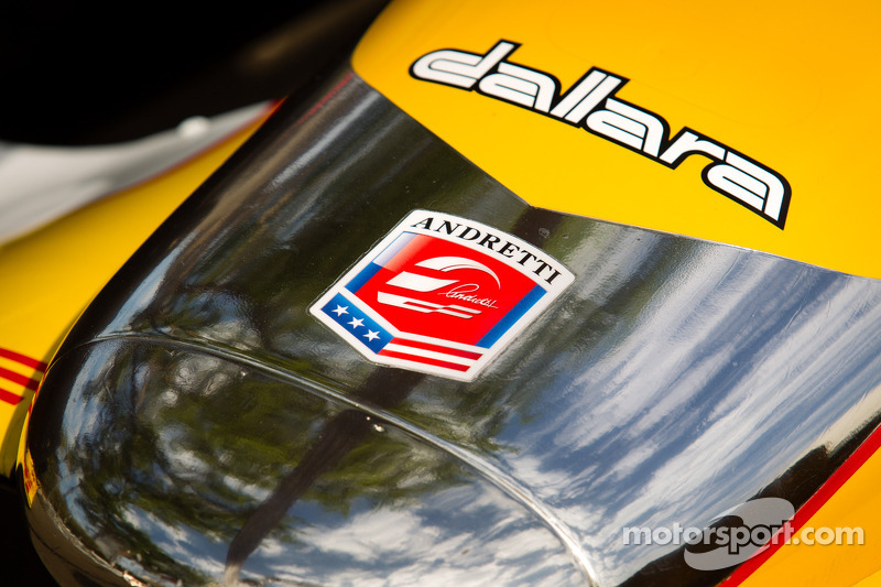 De auto van Ryan Hunter-Reay, Andretti Autosport Chevrolet, neus