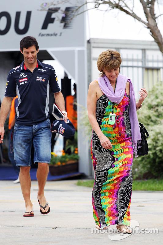 Mark Webber, Red Bull Racing com esposa Ann Neal
