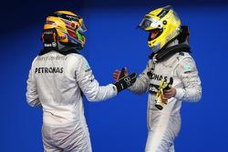 Lewis Hamilton, Mercedes AMG F1 and Nico Rosberg, Mercedes AMG F1