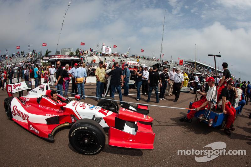 De auto van Justin Wilson, Dale Coyne Racing Honda