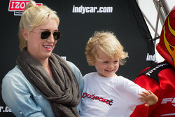 Susie Wheldon and son Sebastian