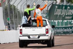 Tristan Vautier, Schmidt Peterson Motorsports Honda and James Hinchcliffe, Andretti Autosport Chevrolet