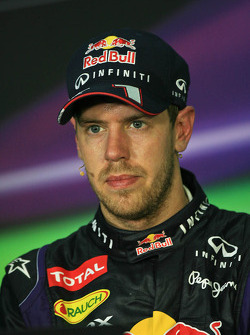 The post race FIA Press Conference, Mark Webber, Red Bull Racing, second