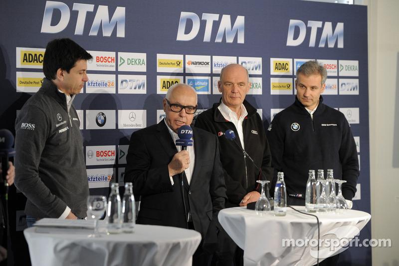 Torger Christian; Toto Wolff, Mercedes-Sportdirektor; Hans Werner Aufrecht, DTM; Dr. Wolfgang Ullrich, Audi-Sportchef; Jens Marquardt, BMW-Motorsportchef