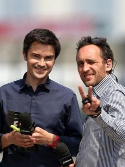 Thomas Senecal, Canal+ F1 Chief Editor e repórter de TV com Frank Montangy, Canal+ repórter de TV