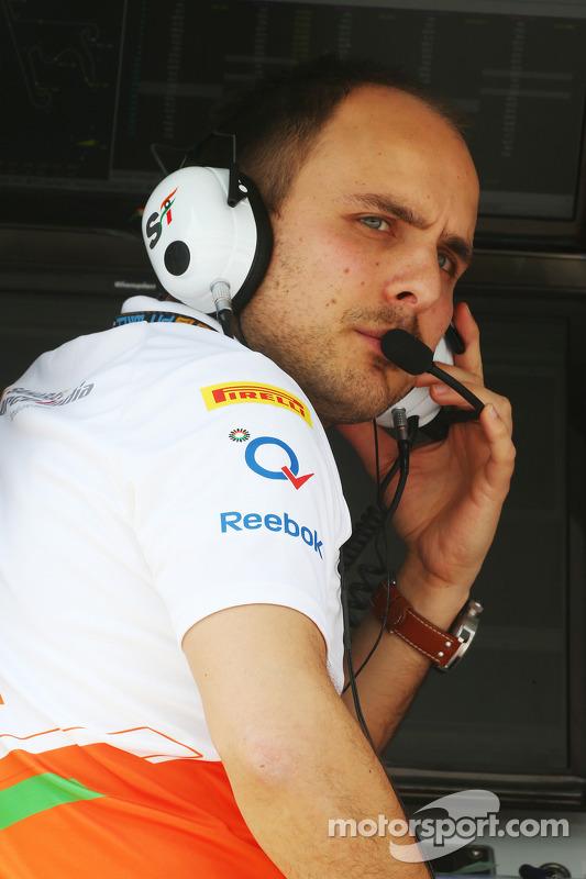 Gianpiero Lambiase, Engenheiro Sahara Force India F1