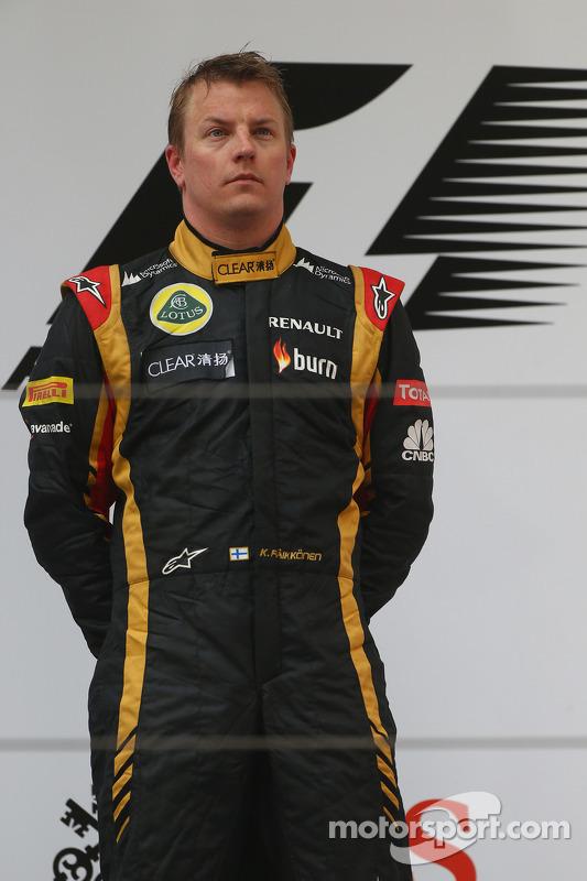 segundo colocado Kimi Raikkonen, Lotus F1 Team