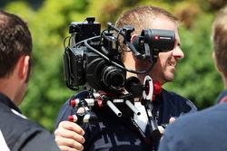 Un caméraman Sky Sports F1