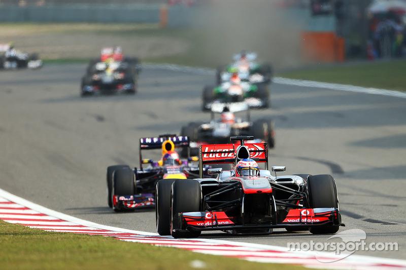 Дженсон Баттон. ГП Китая, Воскресная гонка.