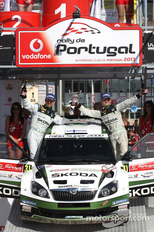 Essapekka Lappi, Janne Ferm, Skoda Fabia S2000, vencedor WRC2