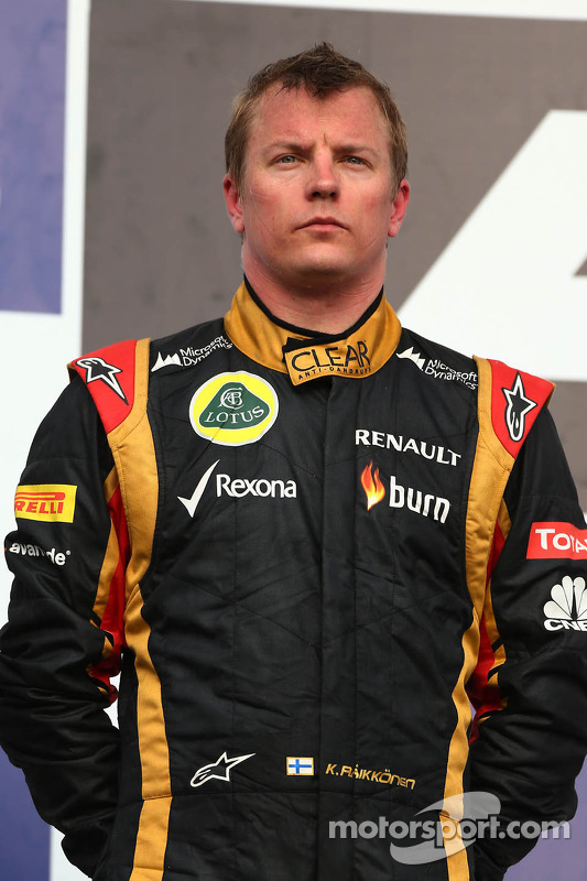 Second place Kimi Raikkonen, Lotus F1 E21