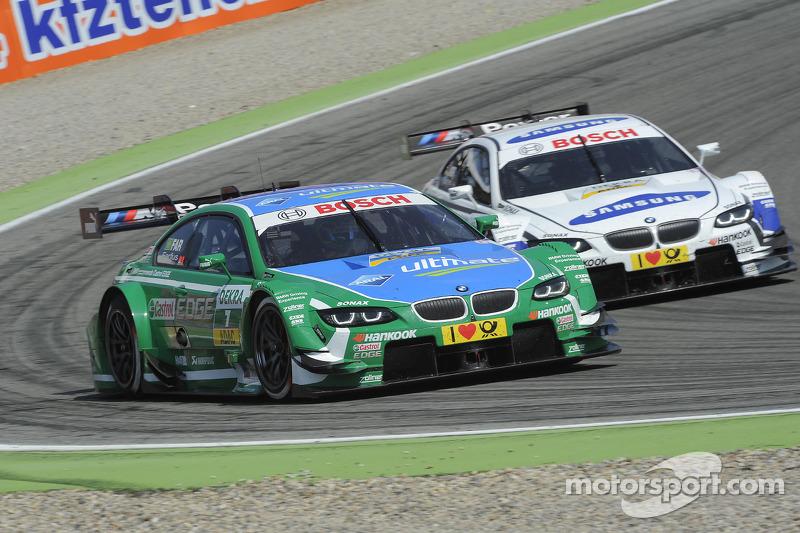 Augusto Farfus, BMW Team RBM BMW M3 DTM en Dirk Werner, BMW Team Schnitzer BMW M3 DTM