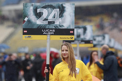 Grid girl of Lucas Auer
