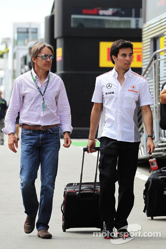Sergio Perez, McLaren with Adrian Fernandez (MEX)
