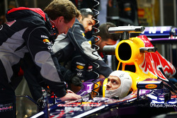 Christian Horner, Chefe de equipe da Red Bull Racing, com Sebastian Vettel, da Red Bull Racing