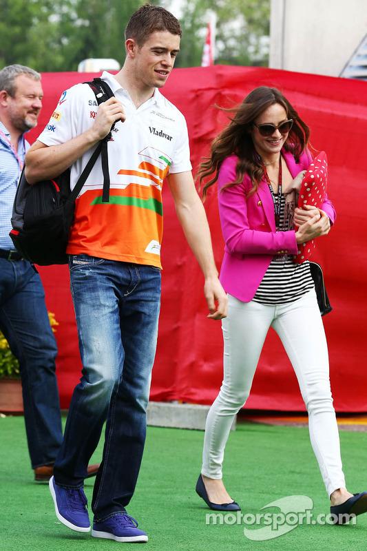 Paul di Resta, Sahara Force India F1 com sua namorada Laura Jordan